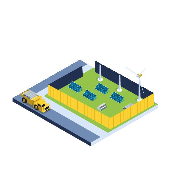 Renewable energy illustration