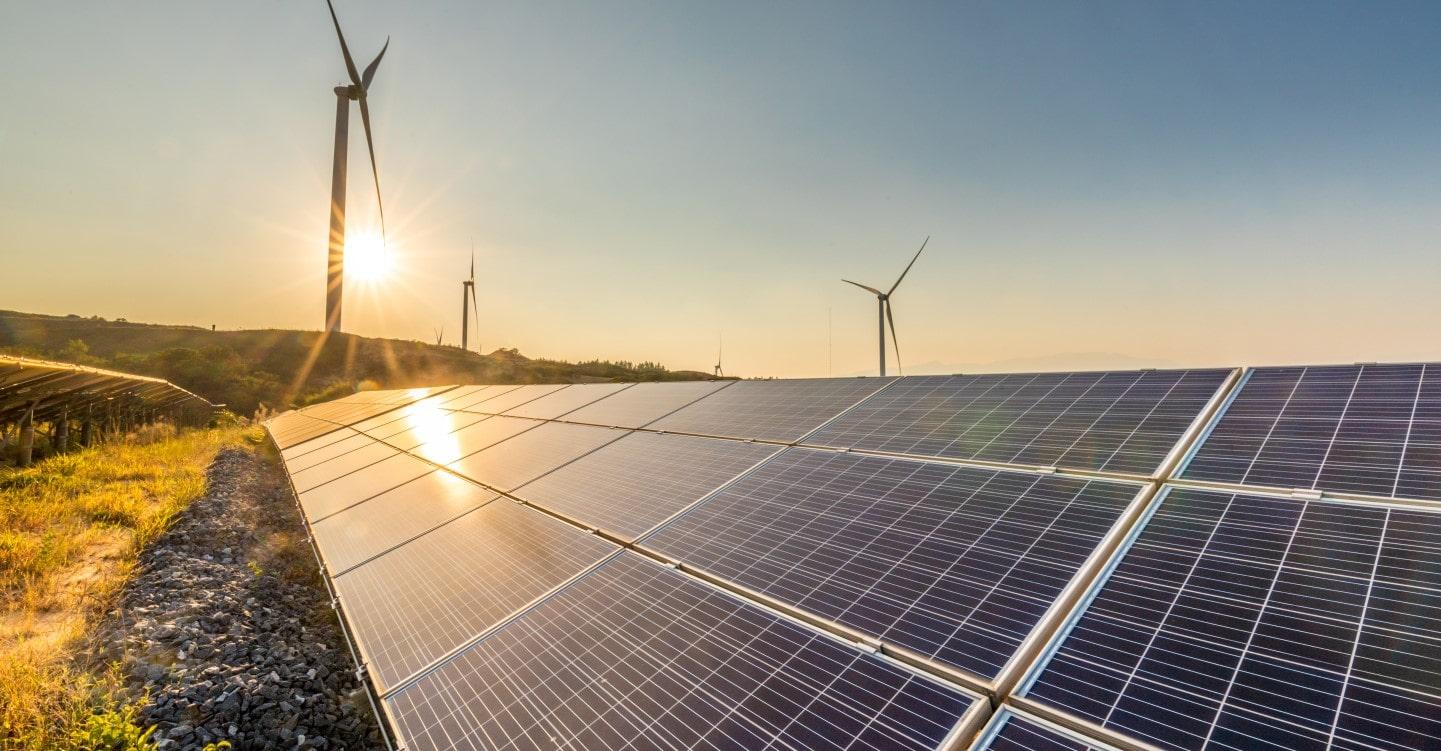 visual of solar panels
